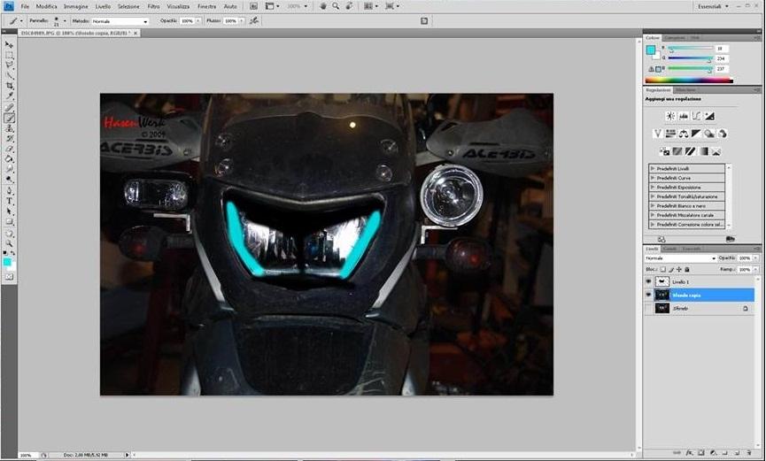 La Motorella - Personalizzazione faro f650gs