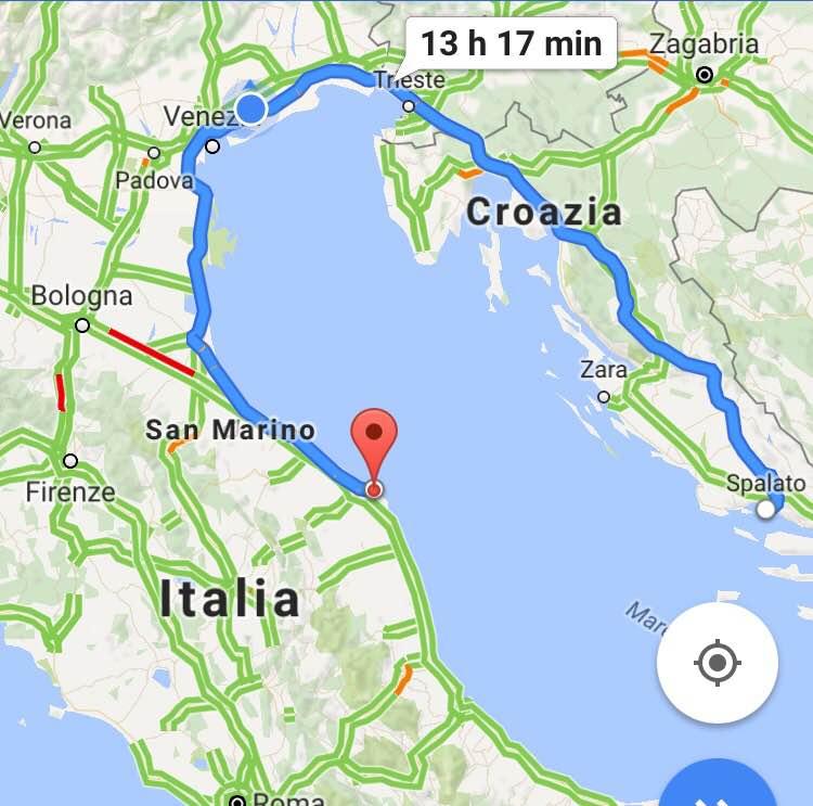 ITALIA CROAZIA IN MOTO
